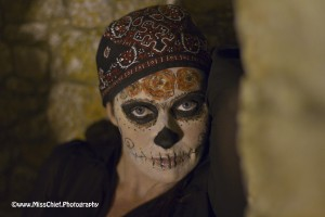 Portrait of a halloween day of the dead