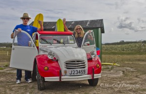 Titinne the red 2 white 2cv sufing lifestyle